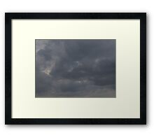 HDR Composite - Fluffy Iron Sky Framed Print