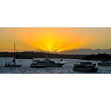 Golden Reflection, Sydney Harbour Dawn, Sydney Australia Photographic Print