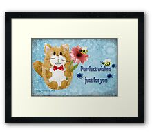 Purrfect Wishes Just for you Framed Print
