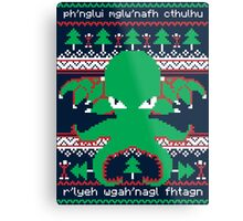 Cthulhu Cultist Christmas - Cthulhu Ugly Christmas Sweater Metal Print