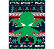 Cthulhu Cultist Christmas - Cthulhu Ugly Christmas Sweater Photographic Print