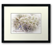 Wedding Blossom Framed Print