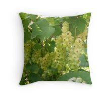 white fruit Throw Pillow