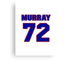National football player Bill Murray jersey 72 Canvas Print