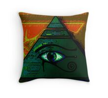Mystical Egyptian Eye of Horus Throw Pillow