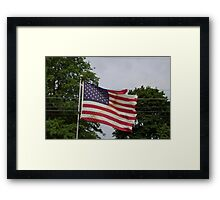 HDR Composite - How Not To Fly The American Flag Framed Print
