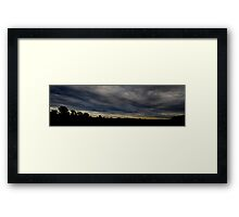 HDR Composite - Insane Blue Black Sunset Framed Print