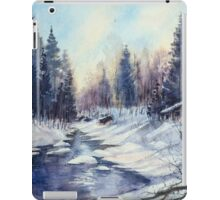 Winter river in the Laurentian Mountains. Quebec iPad Case/Skin