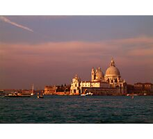 The Church of Santa Maria Della Salute soon after sunrise Photographic Print