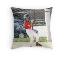 Isaac at bat Throw Pillow