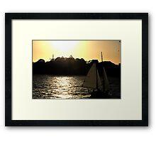 Sailing Into Glory -Sydney Harbour Sydney Australia Framed Print