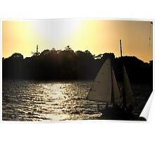 Sailing Into Glory -Sydney Harbour Sydney Australia Poster