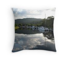Caledonian Canal near Inverness Throw Pillow