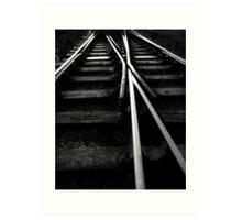Rail Track Direction Art Print
