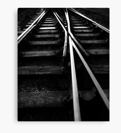Rail Track Direction Canvas Print