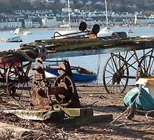 Cart on backbeach Teignmouth by sandrab