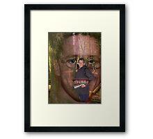 MY HELPER Framed Print