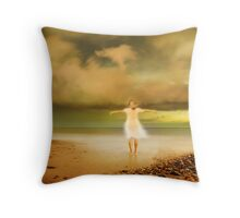 my wings Throw Pillow