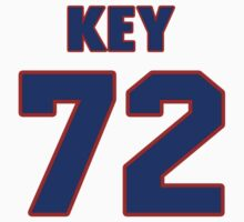 National football player Wade Key jersey 72 by imsport