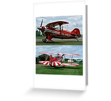 Pitts Acrobatic bi-planes  Greeting Card