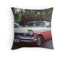 50s Car #2 Throw Pillow