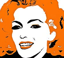 Marilyn so Lovely in Orange and Black by Saundra Myles