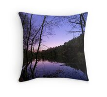 Moonlit Lake Throw Pillow