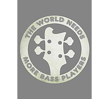 For Bass Players Photographic Print
