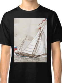 Vintage View of American Yacht in Regatta Classic T-Shirt