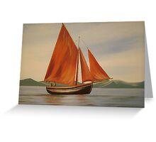 traditional irish fishing boat Greeting Card