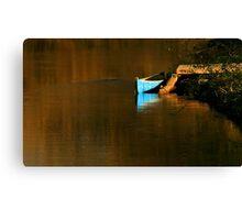 Credit River Canoe Canvas Print