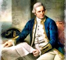 Portrait of Captain James Cook by Dennis Melling