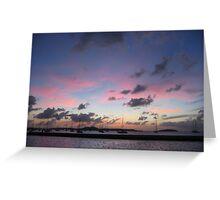 Marigot Harbour Sunset Greeting Card