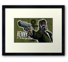 Kenny Borderlands Mashup Poster Framed Print