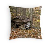 Smoky Mountain Hog House Throw Pillow