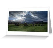 Castlerigg Stone Circle, Cumbria, England Greeting Card