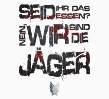 Attack on Titan: Wir Sind Die Jager (White Shirt) T-Shirt