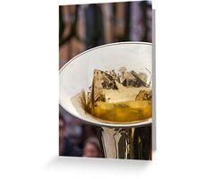 old trumpet Greeting Card