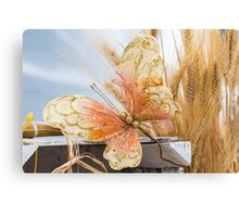 colored handmade butterfly Canvas Print