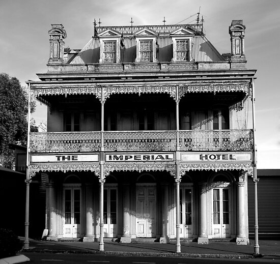 Imperial Hotel BW by DavidsArt