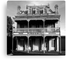 Imperial Hotel BW Canvas Print