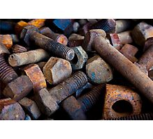 Nuts & Bolts Photographic Print
