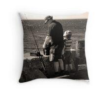 Father & Son Time Throw Pillow