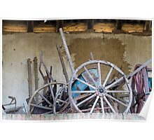 old barn and tools Poster