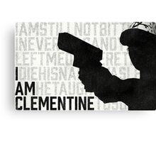 TWDG I Am Clementine Canvas Print