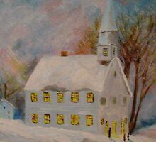 Snowy Church by BubbaGeorge