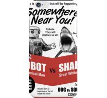 Robot vs. Shark iPhone Case/Skin