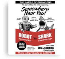 Robot vs. Shark Canvas Print