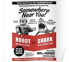 Robot vs. Shark Poster