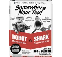 Robot vs. Shark iPad Case/Skin